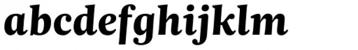 Trola Text Heavy Italic Font LOWERCASE