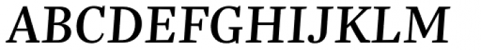 Trola Text Regular Italic Font UPPERCASE