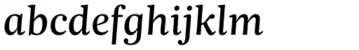 Trola Text Regular Italic Font LOWERCASE