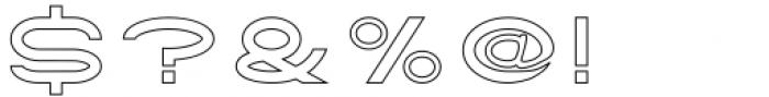 Tromso Regular Outline One Font OTHER CHARS
