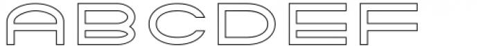 Tromso Regular Outline One Font UPPERCASE