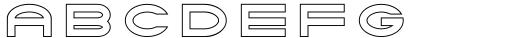 Tromso Regular Outline One Font LOWERCASE