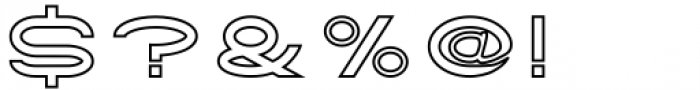 Tromso Regular Outline Two Font OTHER CHARS