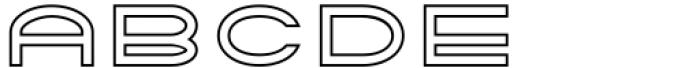 Tromso Regular Outline Two Font UPPERCASE
