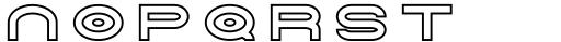 Tromso Regular Outline Two Font LOWERCASE