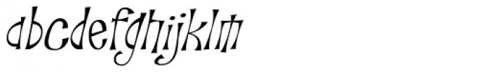 Troutkings BTN Light Oblique Font LOWERCASE
