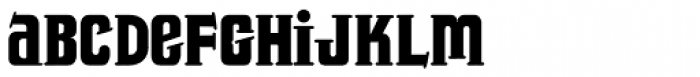 Trucker Font LOWERCASE