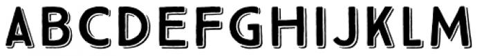 True North 3D Font UPPERCASE
