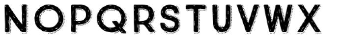 True North Rough Dots Font UPPERCASE