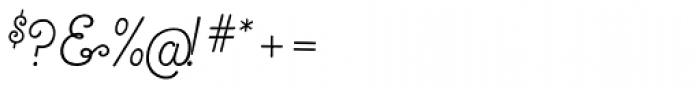 True North Script Font OTHER CHARS