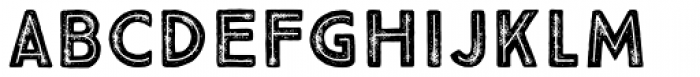 True North Textures Inline Bold Font LOWERCASE