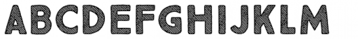 True North Textures Three Bold Font UPPERCASE