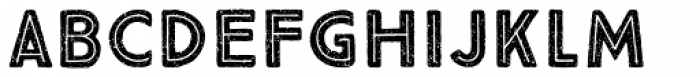 True North Textures Two Inline Bold Font LOWERCASE