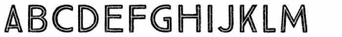 True North Textures Two Inline Font LOWERCASE