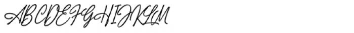 Truens script Font UPPERCASE
