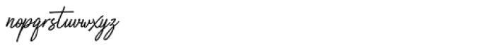 Truens script Font LOWERCASE