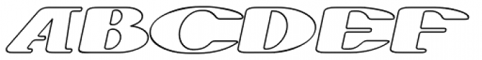 Trumen Outline Italic Font UPPERCASE