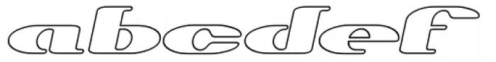 Trumen Outline Italic Font LOWERCASE