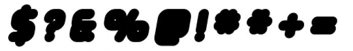 Tryptomene Black Oblique Font OTHER CHARS