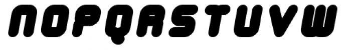 Tryptomene Black Oblique Font UPPERCASE