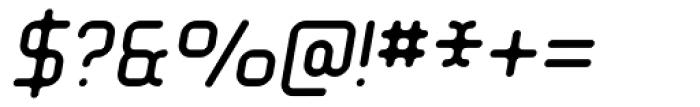 Tryptomene Light Oblique Font OTHER CHARS