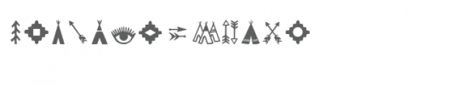 tribal dingbat font Font UPPERCASE