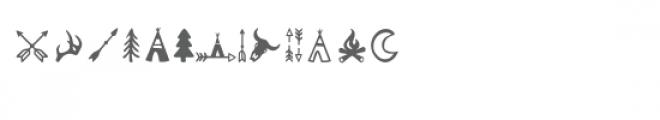 tribal dingbat font Font LOWERCASE