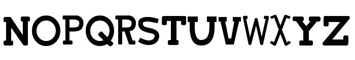 Tsukumogami Font UPPERCASE