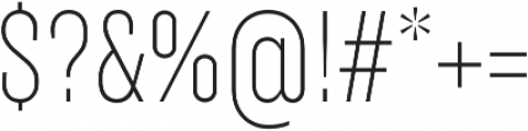 TT Backwards Sans Thin otf (100) Font OTHER CHARS