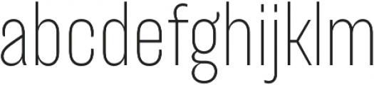 TT Backwards Sans Thin otf (100) Font LOWERCASE