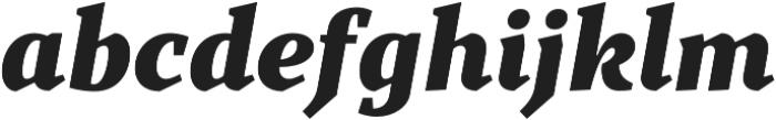 TT Bells Black Italic otf (900) Font LOWERCASE