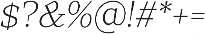 TT Bells Light Italic otf (300) Font OTHER CHARS