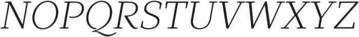 TT Bells Light Italic otf (300) Font UPPERCASE