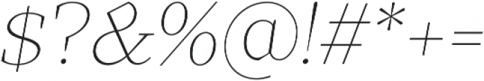 TT Bells Thin Italic otf (100) Font OTHER CHARS