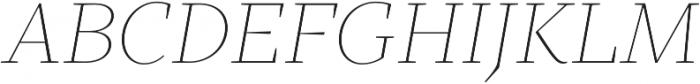 TT Bells Thin Italic otf (100) Font UPPERCASE