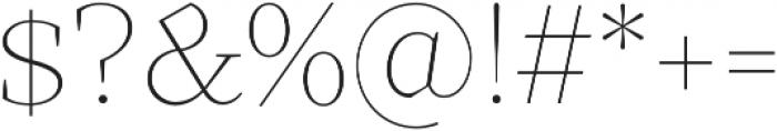 TT Bells Thin otf (100) Font OTHER CHARS
