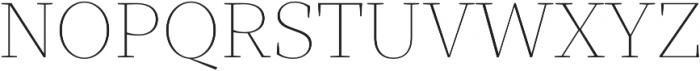 TT Bells Thin otf (100) Font UPPERCASE
