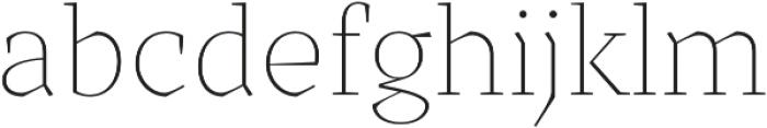 TT Bells Thin otf (100) Font LOWERCASE