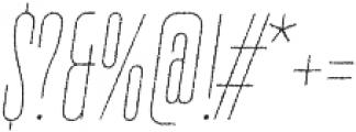 TT Bluescreens Rough Thin Italic otf (100) Font OTHER CHARS