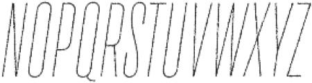 TT Bluescreens Rough Thin Italic otf (100) Font UPPERCASE
