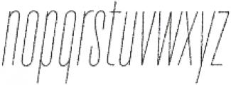 TT Bluescreens Rough Thin Italic otf (100) Font LOWERCASE