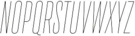 TT Bluescreens Thin Italic otf (100) Font UPPERCASE