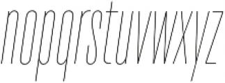 TT Bluescreens Thin Italic otf (100) Font LOWERCASE