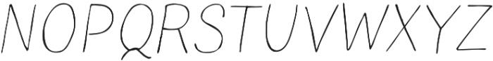 TT Blushes Thin Italic otf (100) Font UPPERCASE