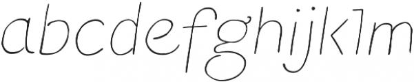 TT Blushes Thin Italic otf (100) Font LOWERCASE