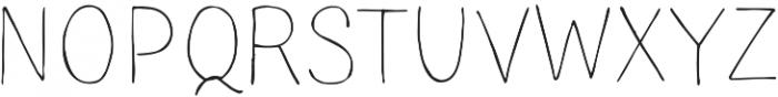 TT Blushes Thin otf (100) Font UPPERCASE