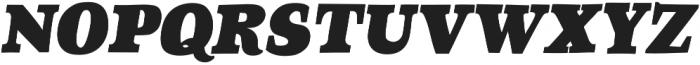 TT Coats Black Italic otf (900) Font UPPERCASE