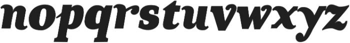 TT Coats Black Italic otf (900) Font LOWERCASE