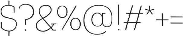 TT Coats Light otf (300) Font OTHER CHARS