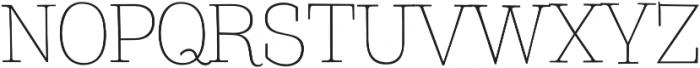 TT Coats Light otf (300) Font UPPERCASE